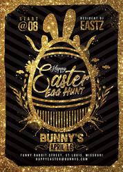 Happy Easter Egg Hunt Flyer by n2n44