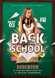 Back To school Party Flyer by n2n44