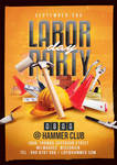 Labor day party flyer by n2n44