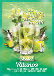 Mojito Time Party Flyer by n2n44