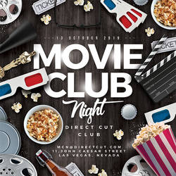 Movie Club Night Flyer by n2n44