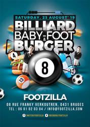 Billiard Babyfoot Burger Flyer by n2n44