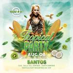 Tropical Party Flyer -  Seasonal template by n2n44