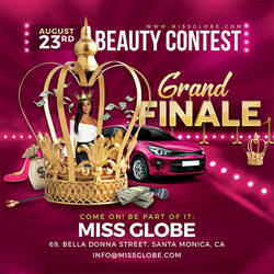 Beauty Contest Flyer Template by n2n44