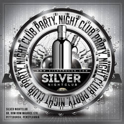 Silver Nightclub Party Flyer by n2n44