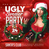 Ugly Sweater Party Flyer by n2n44
