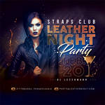 Leather Night club Party Flyer by n2n44