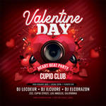 Valentine Day Heart Beat Party Flyer by n2n44