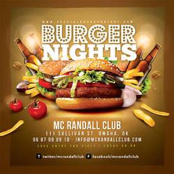 Burger Nights Club Party Flyer by n2n44