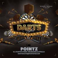 Darts Pub Night Or Club Flyer