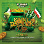 Saint Patrick Day Celebration Party Flyer by n2n44