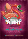 Flamingo Summer Party Flyer by n2n44