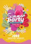 Seasonal Summer Party Flyer Template by n2n44