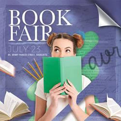 Book Fair Or Library Shop Flyer by n2n44
