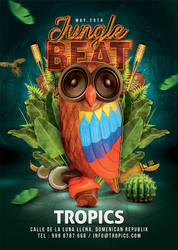 Jungle Beat Party Flyer by n2n44