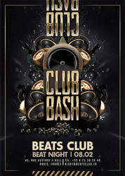 Club Bash Golden Party Flyer by n2n44