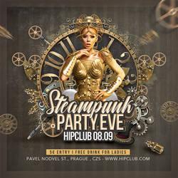 Steampunk Party Club Flyer by n2n44
