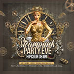 Steampunk Party Club Flyer by n2n44