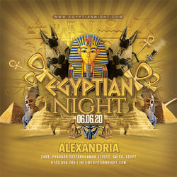 Themed Egyptian Night Party Flyer by n2n44