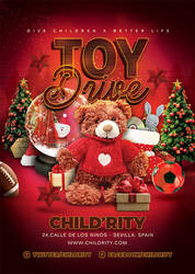 Christmas Toy Drive Flyer by n2n44