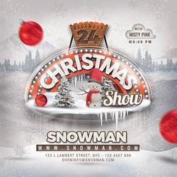 Christmas Show Club Flyer by n2n44