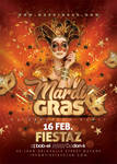 Mardi Gras Party Flyer print flyer template by n2n44