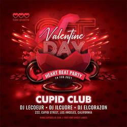 Valentine Day Club Party Flyer by n2n44