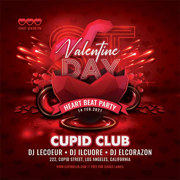 Valentine Day Club Party Flyer