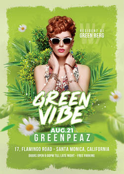 Green Vibe Party Flyer