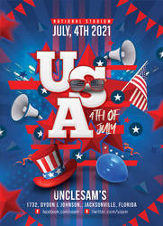 USA 4th Of July Flyer