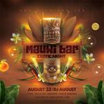 Tiki Bar Luau Party Flyer by n2n44