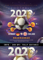 Live European Football Cup Bar Pub Flyer Template by n2n44