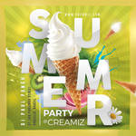 Ice Cream Summer Party Flyer by n2n44