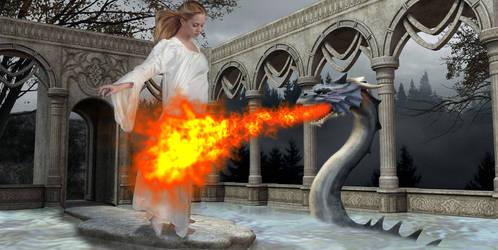 dragon's  prayer by pelgia