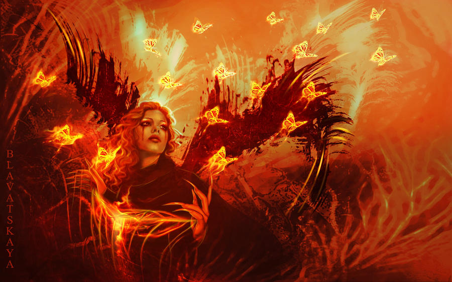 Fiery Death Angel by Blavatskaya