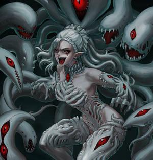 Isbelare crazy monster girl in living suit