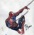 Spiderman Ink and Watercolor
