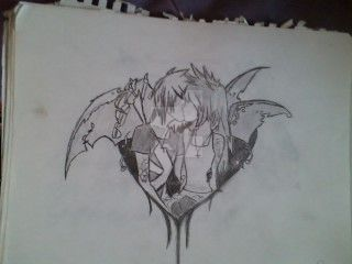Emo heart couple by Animebaby1223