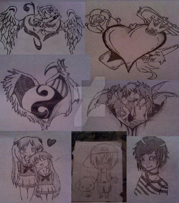 collage of my drawings by Animebaby1223
