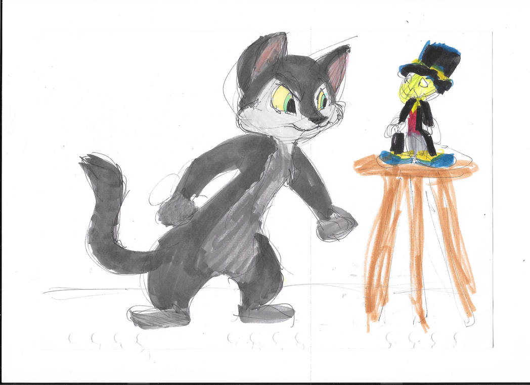 The Cat In Fun And Fancy Free And Jiminy Cricket by MrBig2