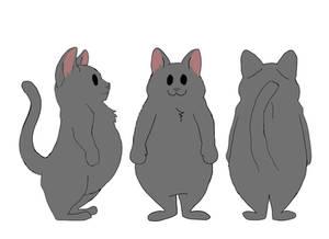 EUM Cat Turnaround Solid Grey