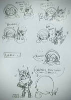 Owlmoth shenanigans by DoodToon