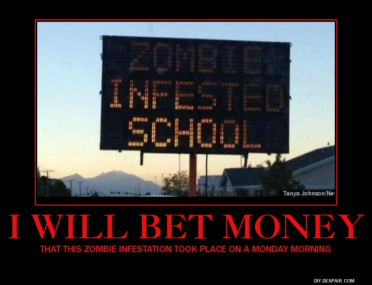 ZOMBIE SCHOOL by fredrickburn