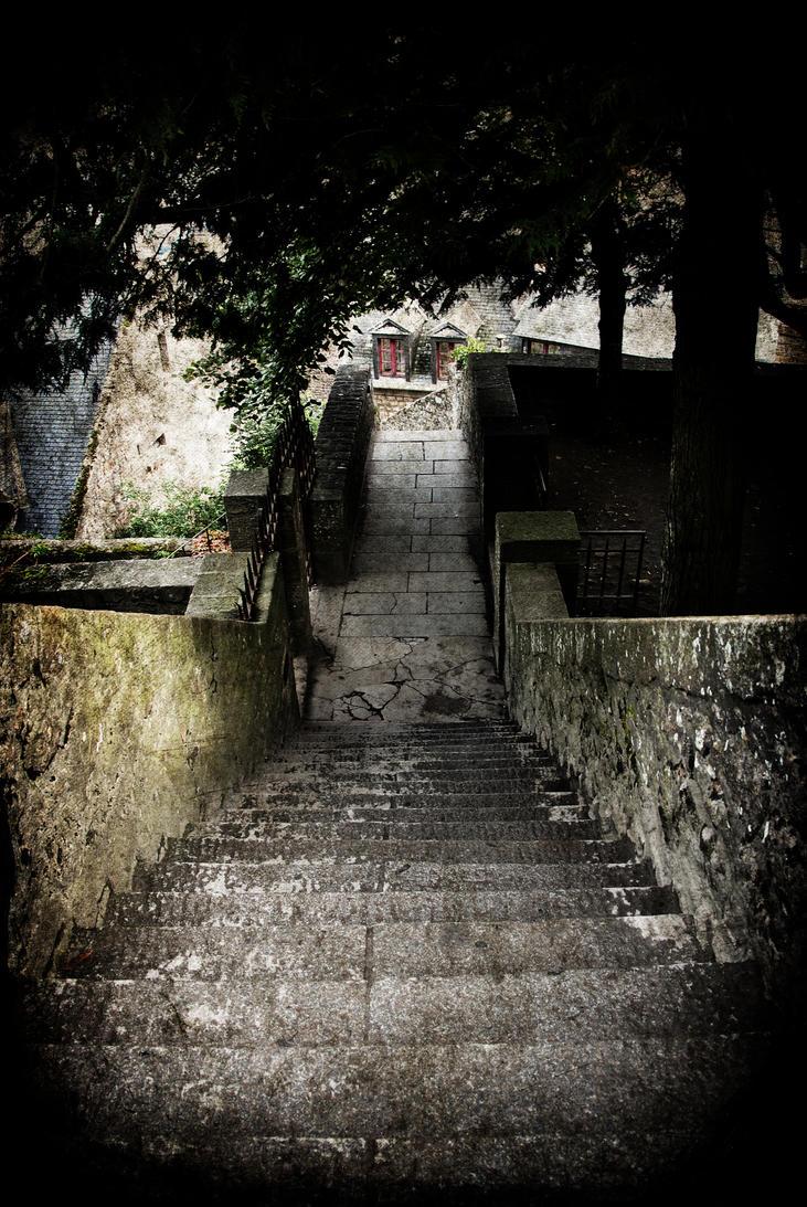 Escalier au Mont St Michel by VicDeS-P