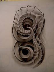bio organic arm design by JWheelwrighttattoos