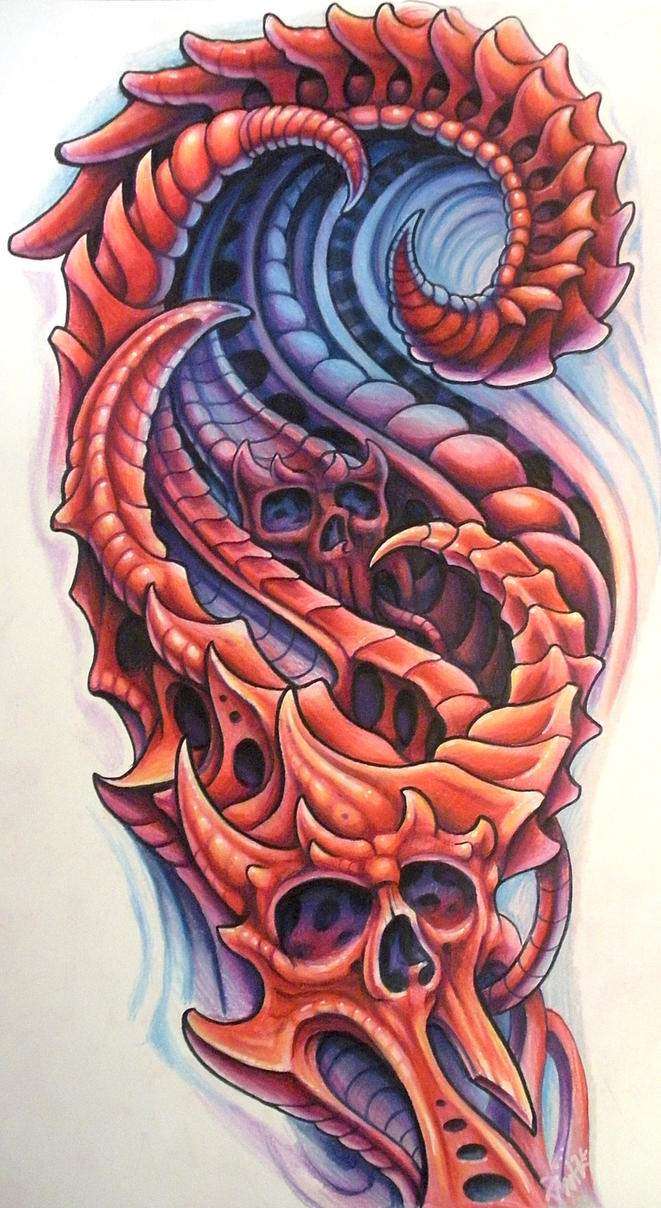 Drawing Smooth Lines In Flash : Biomechanical red by jwheelwrighttattoos on deviantart