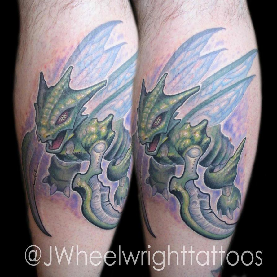 Scyther Tattoo by JWheelwrighttattoos