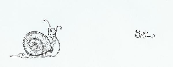Snail sketch by cre8anim8