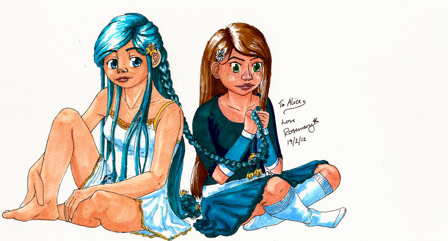.:Long-Haired Girls:. -:Gift:- by Lutra-Gem