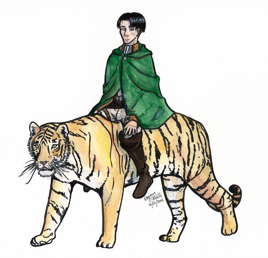 Levi on a Tiger by Lutra-Gem